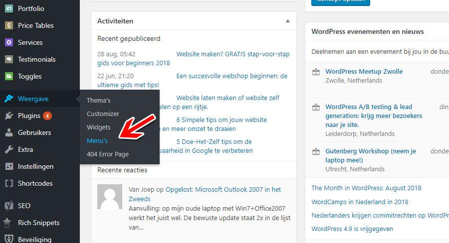 HL Websolutions wordpress dashboard 4